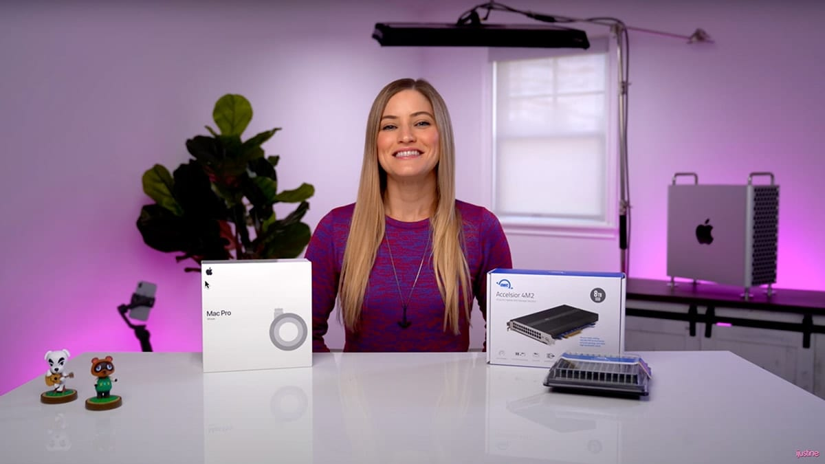 iJustine with 1.5 TB of OWC memory, owc accelsior 4m2 and mac pro wheels