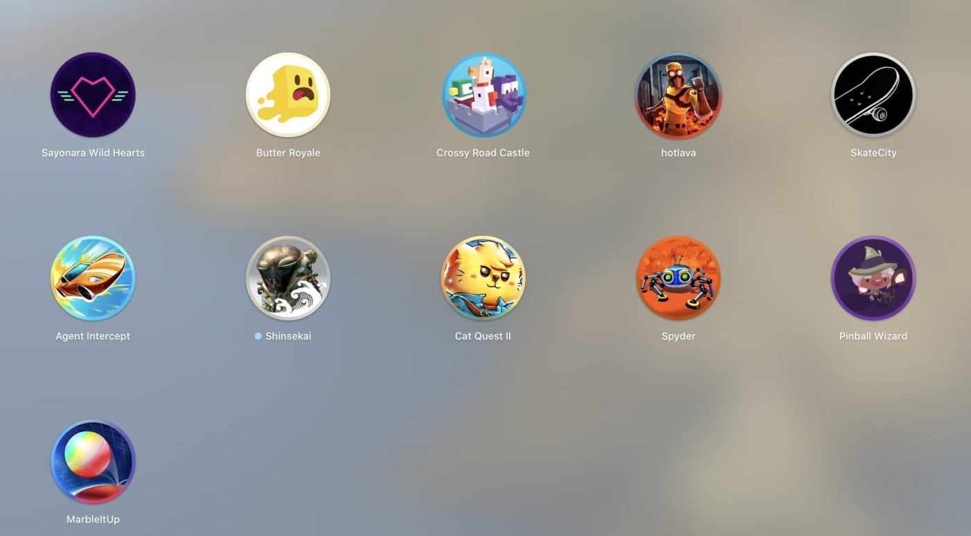 A Launchpad folder loaded up with apps