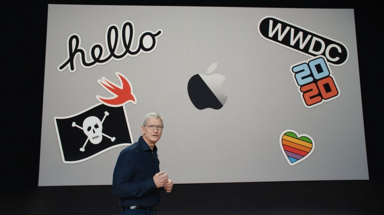 Apple CEO Tim Cook Introduces the WWDC Keynote on June 22, 2020. All photos via Apple.com