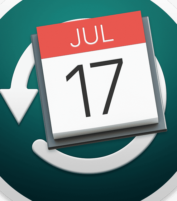 calendar icon and time machine back up icon