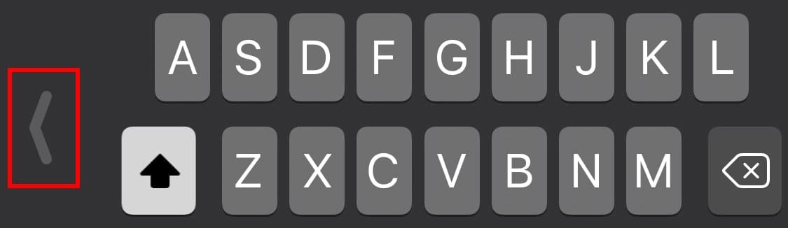 Clicking the arrow on the side will expand the kyboard.