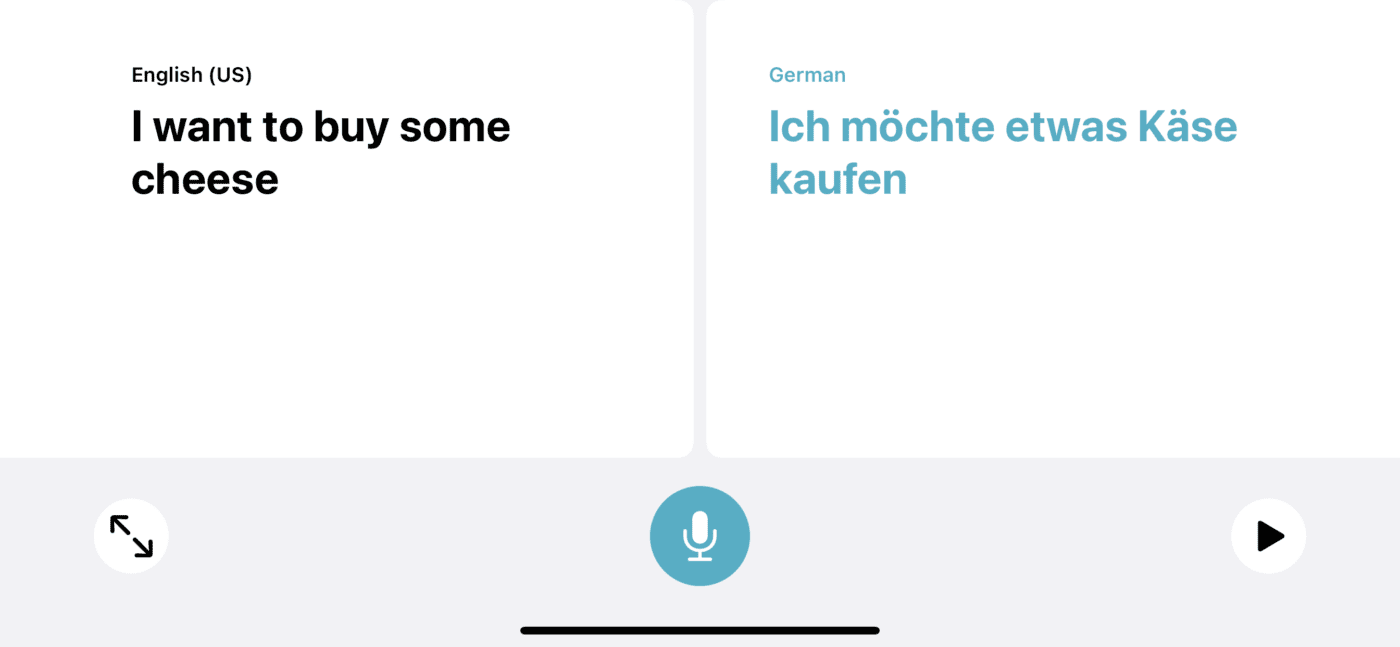Conversation mode is most useful in landscape mode