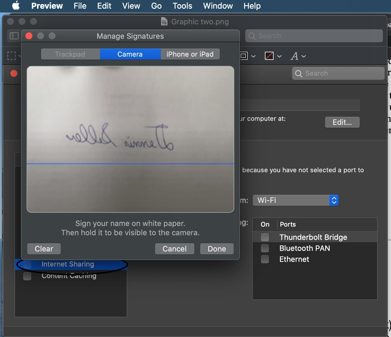 Preview can be used to create digital signatures