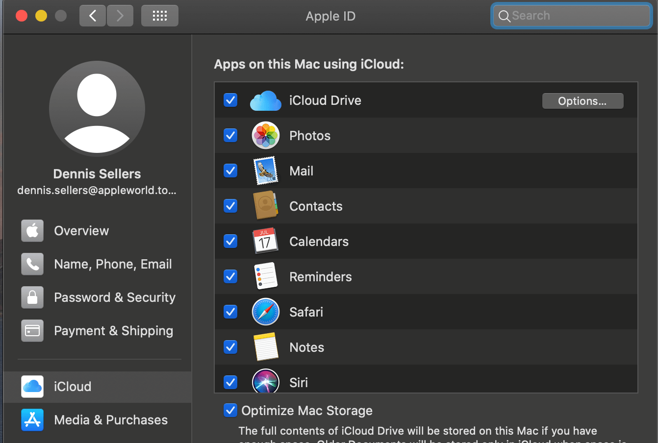 Choosing iCloud in your Apple ID preferences shows the apps being used