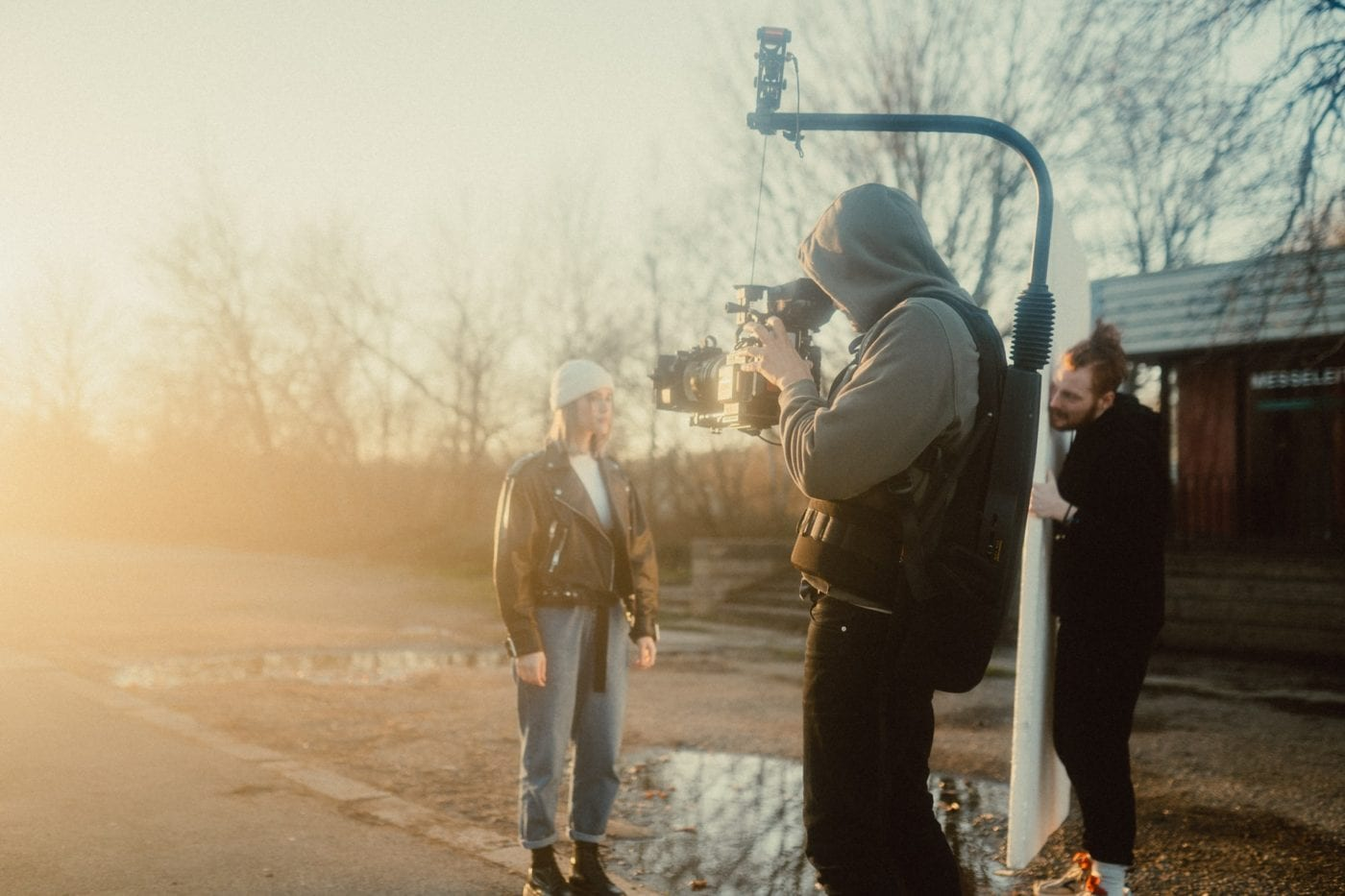 DP and crew working to get just the right light.