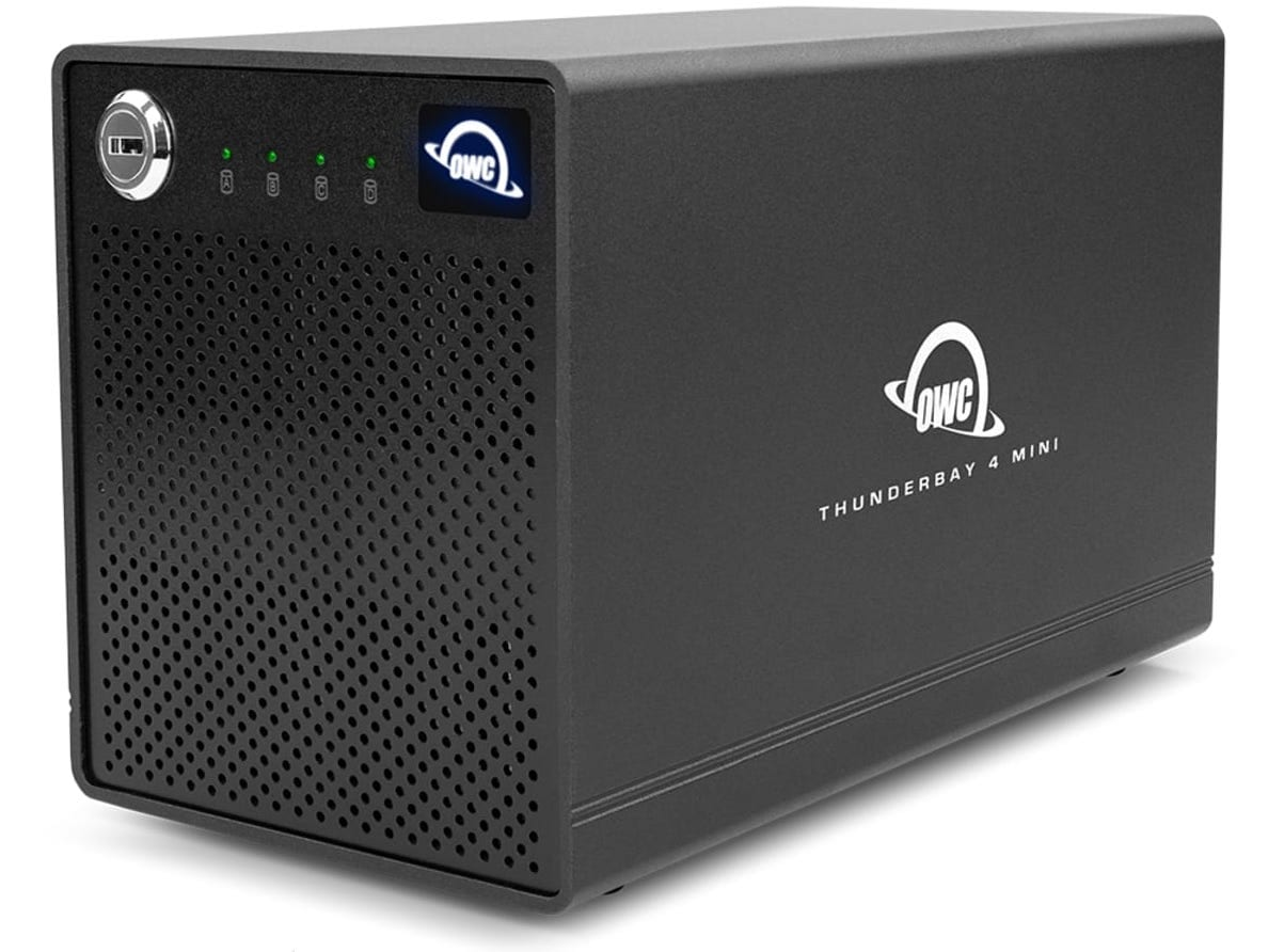 The OWC ThunderBay 4 Mini is a compact Thunderbolt RAID drive that supports up to 16TB of storage