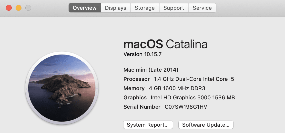 About This Mac showing 4GB of RAM in this Mac mini / Linux server