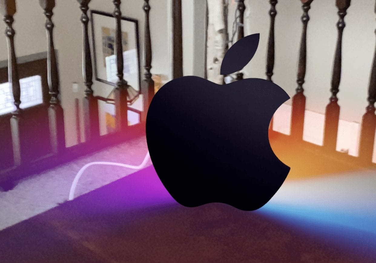 The animated AR Apple logo in the Apple Event Easter egg