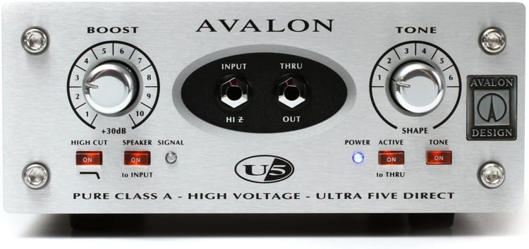 Avalon U5 Class A Active Instrument DI and Preamp