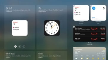 Notification center widgets in macOS Big Sur
