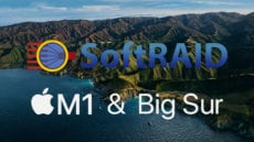 softraid logo on big sur colored background