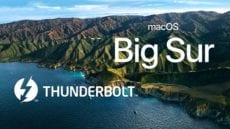 macOS Big Sur wallpaper with Thunderbolt logo