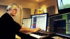 Simon Franglen composing in the studio