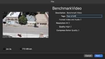 M1 Video Benchmark