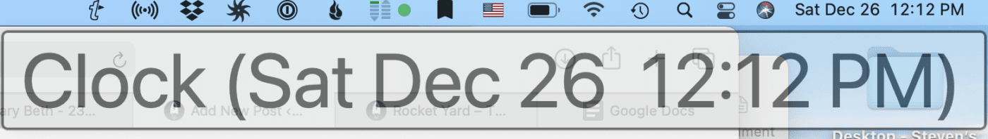 Even menu bar items benefit from Hover Text