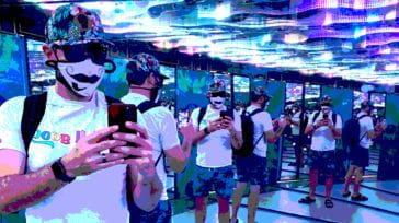 Posterized photo of Brent Bushnell VR Gaming