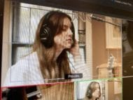 Amy Peters singing during a remote video production