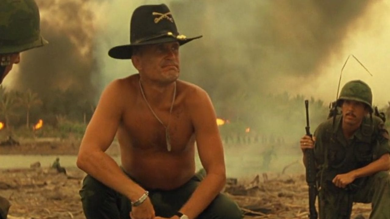 Classic scene from a classic movie. Robert Duvall loves the smell of napalm in the morning. Apocalypse Now © United ArtistsClassic scene from a classic movie. Robert Duvall loves the smell of napalm in the morning.