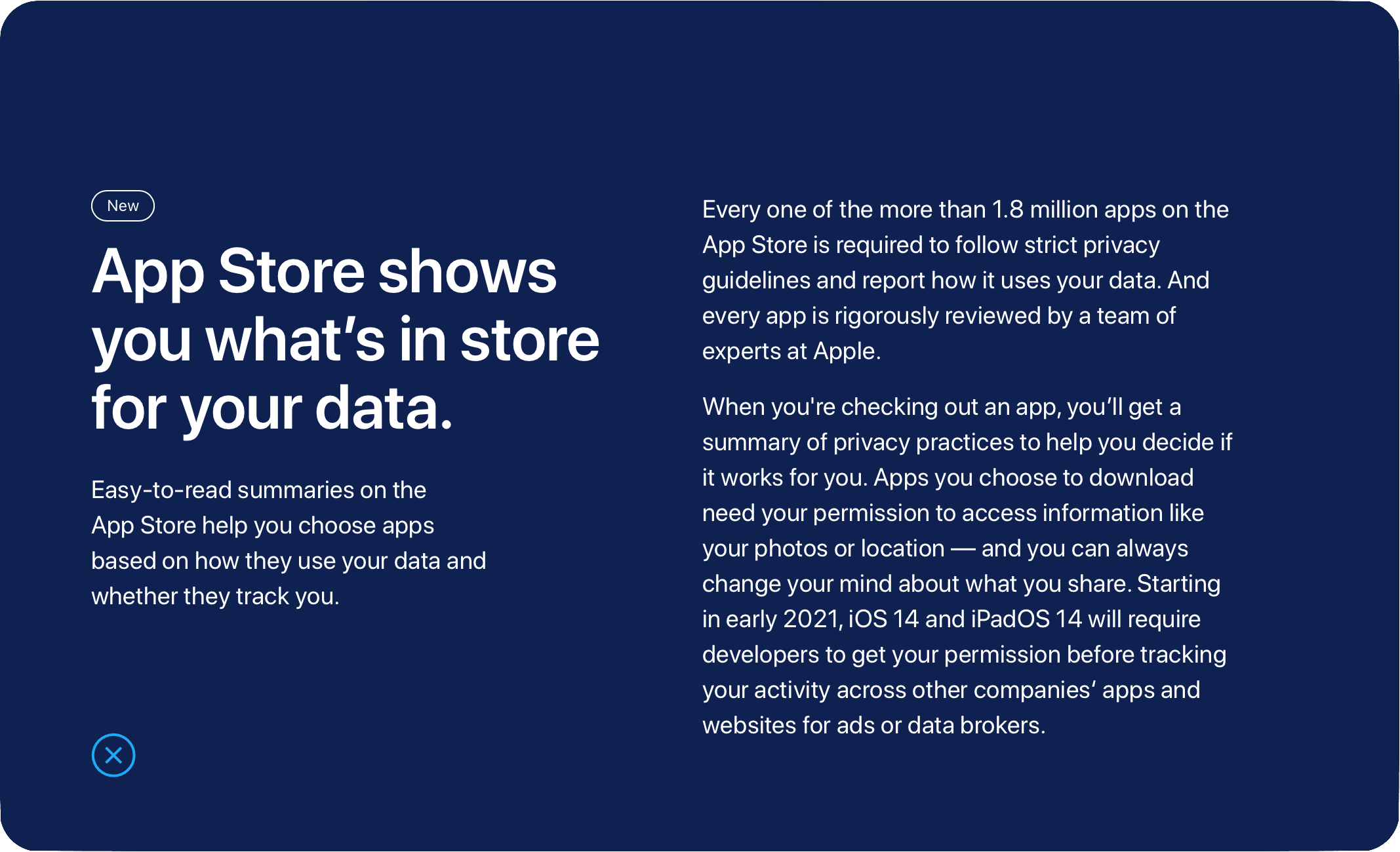 App Store shows you what's in store for your data.