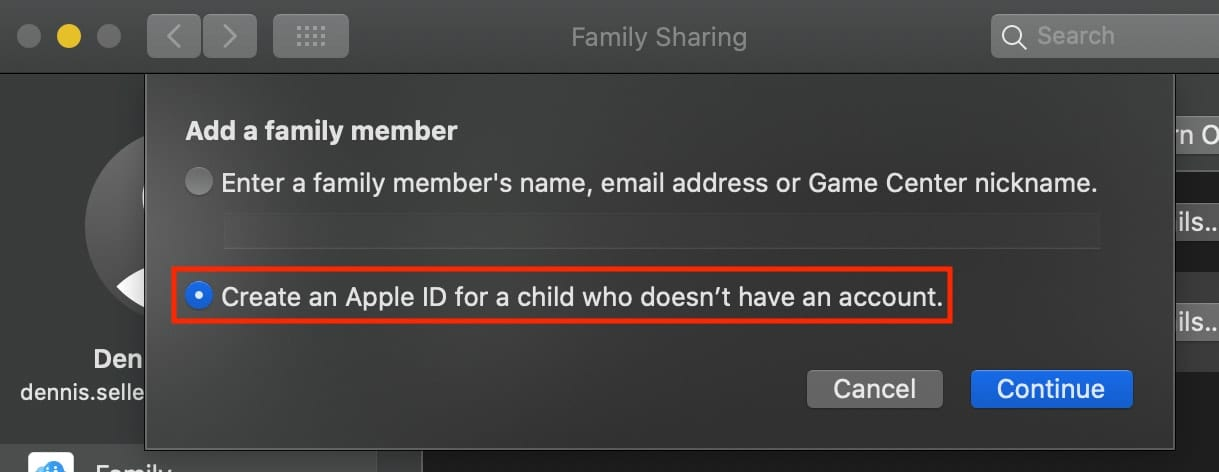 If your child doesn't have an Apple ID, you can create one
