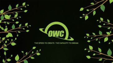 OWC the speed to create the capacity to dream - logo in green with vines