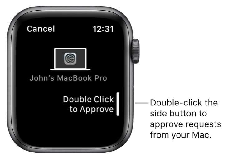 Apple watch double-click to approve