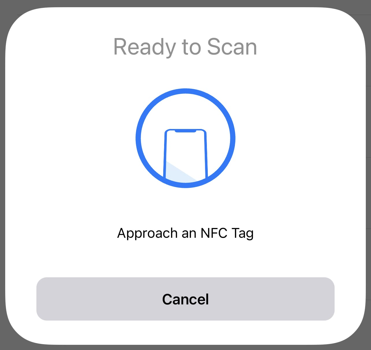 Bring the top of the iPhone to your NFC tag