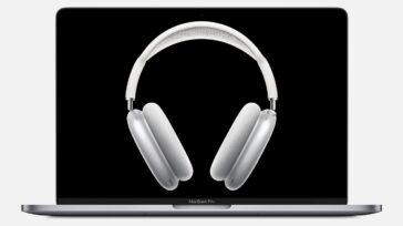AirPods Max on MacBook Pro