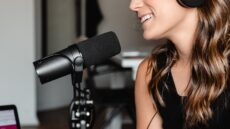 Woman podcaster