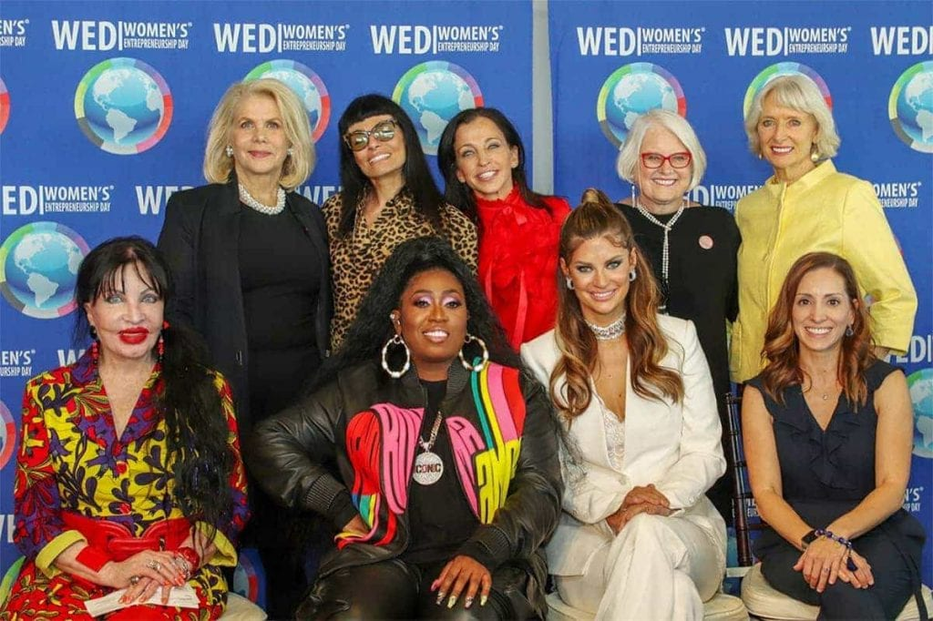 Wendy DFiamond with a group of women at Women's Entrepreneurship Day