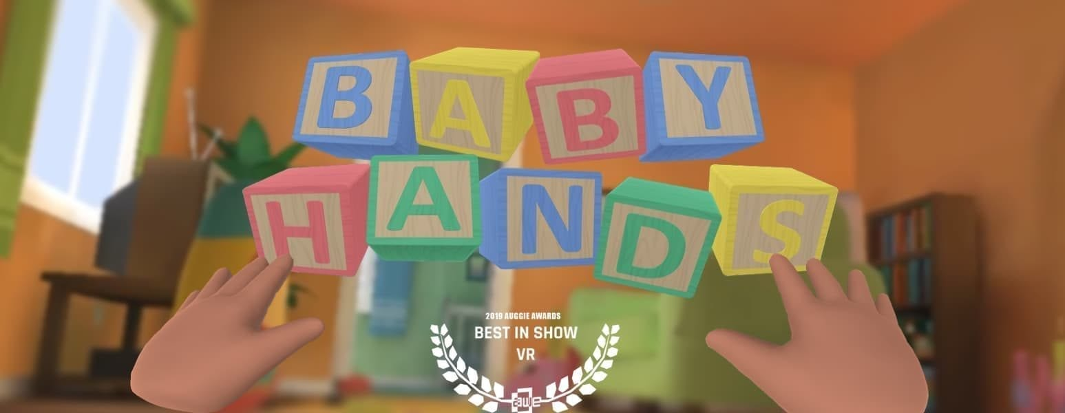 """child blocks spelling out """"baby hands"""" by Finn Faber"""